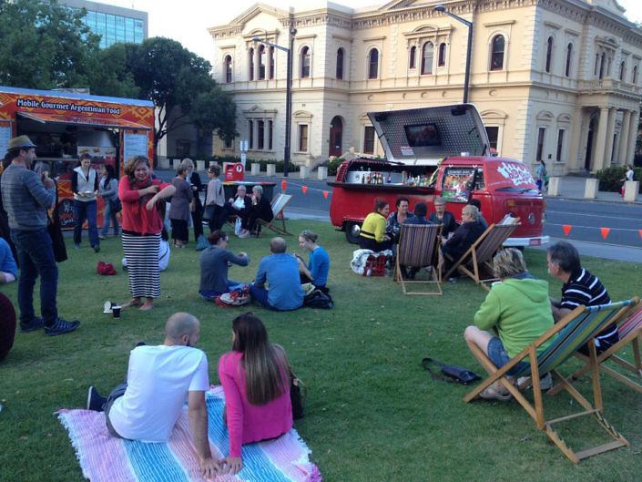 red mobile bar hire Victoria Square