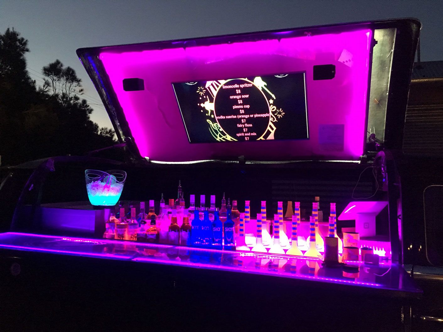 Black mobile bar night