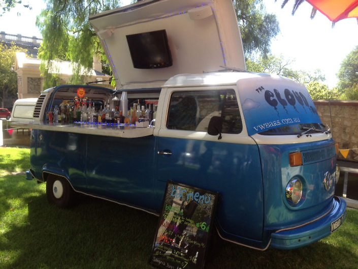 mobile bar blue